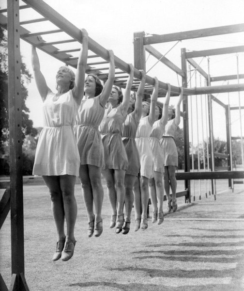 To carry ladders, the Soviet Union used the flying women.