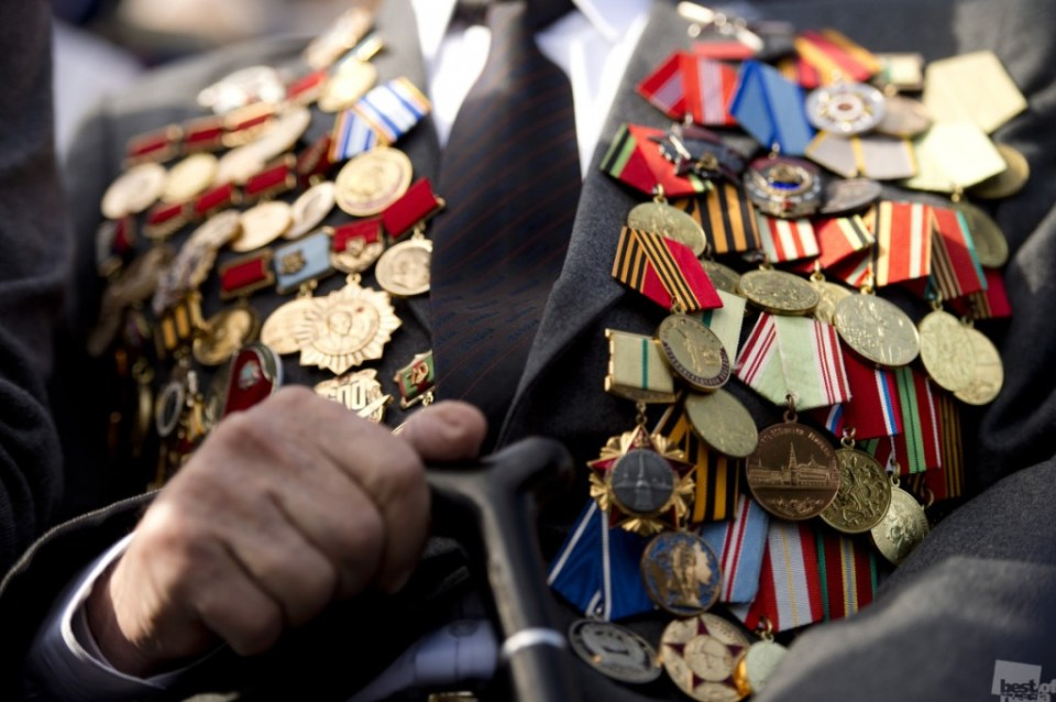 A WW2 Veteran, the honorary guest of the event to celebrate the 70th anniversary of the victory. Moscow. Photo by Pascal Dumont