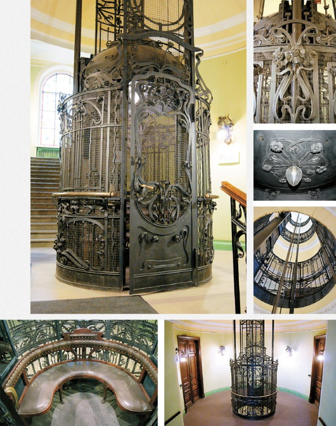 The Steam powered Elevator in the house of Guard Captain S. Muyaki