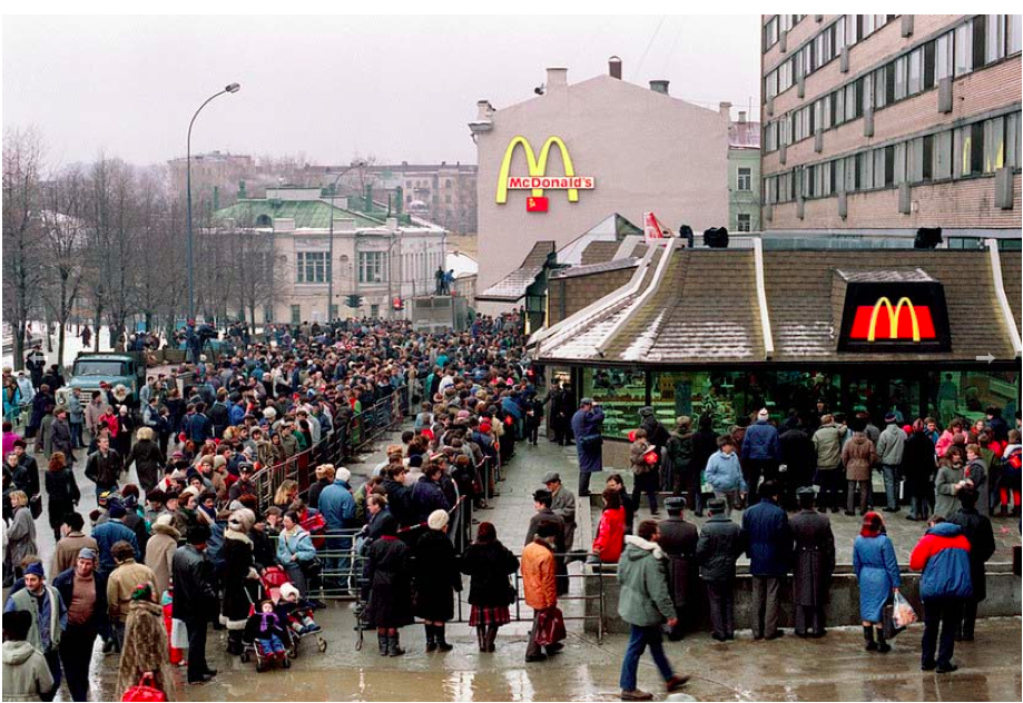 Opening of McDonald's in Moscow, 1990