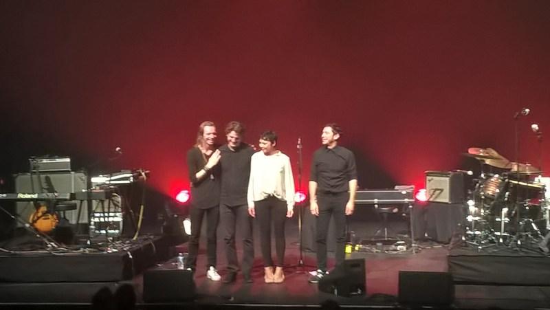 De gauche à droite: Pascal Paulus/ Pascal Mohy/ Mélanie de Biasio/ Alberto Malo