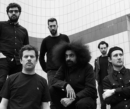 Les six Beatmakers du projet GANGUE. Haring / La Fine Equipe / Fulgeance