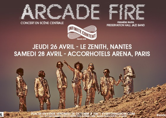 Arcade Fire sera en concert en France pour deux dates!