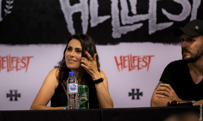 Conférence de presse within temptation Hellfest 2019 photo weirdsound