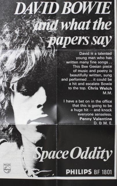Affiche publicitaire de Philips 1969 et belle critique de Chris Welch