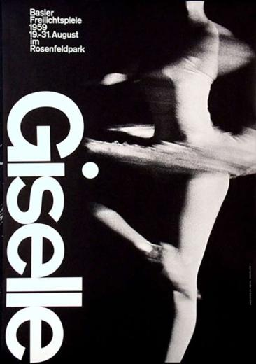 05-Armin Hofmann, poster for the Basel theater production of Giselle, 1959