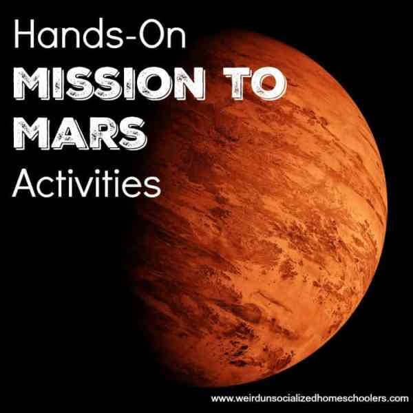 HandsOn Mission to Mars Activities Weird Unsocialized