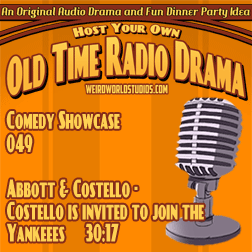 Audio cover for Abbott & Costello - Costello is invited to join the Yankees