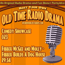 Audio cover for Fibber McGee and Molly - Fibber builds a dog house