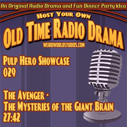 Audio cover for The Avenger - The Mystery of the Giant Brain