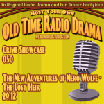 Audio cover for The New Adventures of Nero Wolfe - The Lost Heir