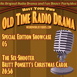 Audio cover for The Six Shooter - Britt Ponsett's Christmas Carol