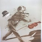 "Weisbuch lithographie""le Violoniste"""