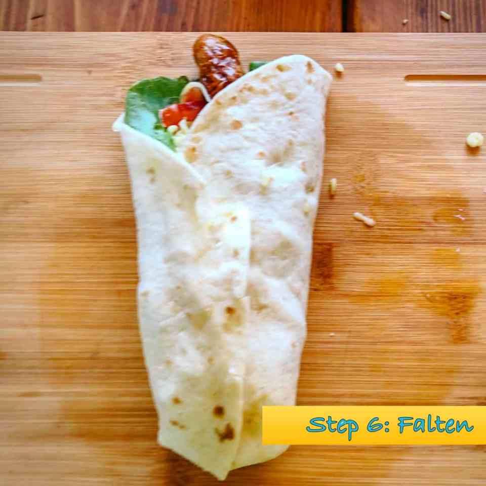Schritt 6 zum Bratwurst-Wrap