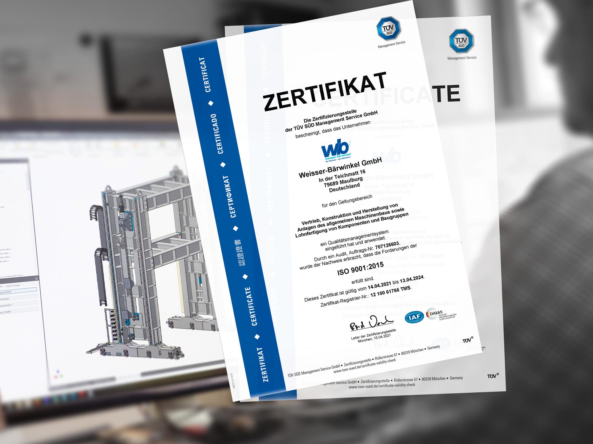zertifiziert nach DIN ISO 9001.