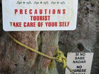 Netter Empfang an der Cenote Dzitnup