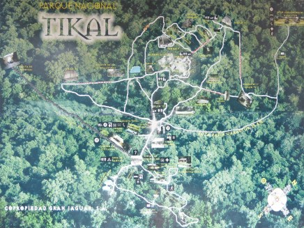 Tikal Lageplan, den hätten wir mal zu Beginn abfotografieren sollen, naja für später