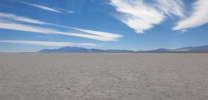 Unsere erste Salzwüste – auf dem Weg nach Chile.