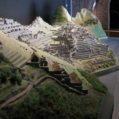 interessantes Modell der Ruinen