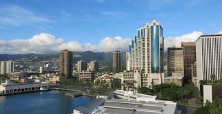 "Der Blick ""über"" Honolulu - vom Aloha Tower"