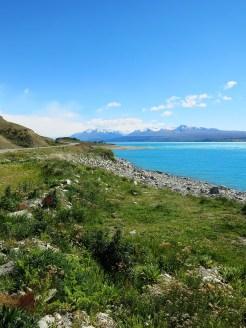 irgendwo in den Wolken versteckt sich der Mount Cook