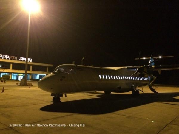 เครื่องบิน ATR 72-500 จอดรอพาผู้โดยสารไปเชียงใหม่