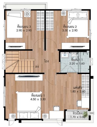 แปลนบ้านแบบ Ochre ชั้น 2