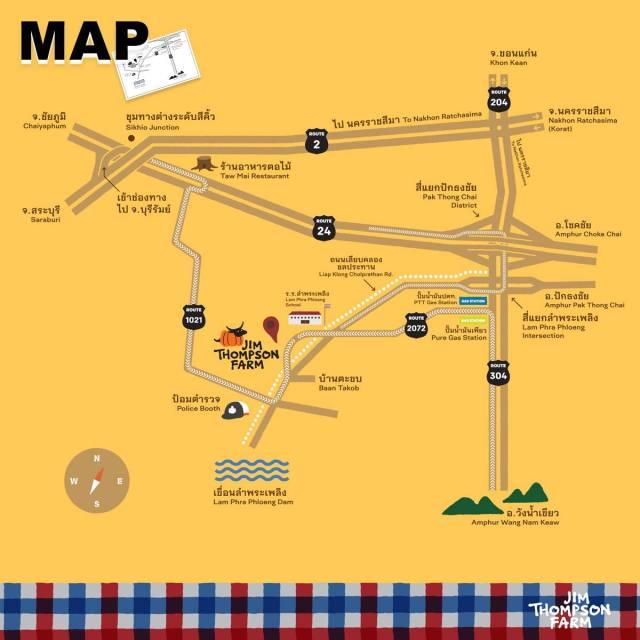 แผนที่ จิม ทอมป์สัน ฟาร์ม