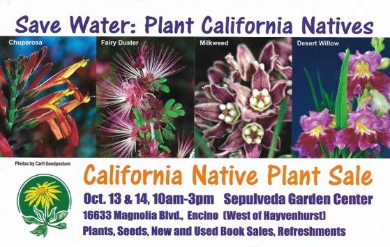 Native Plant Sale Weekend!, Sepulveda Garden Center, October 13 & 14, 2018