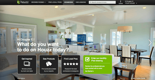 Houzz screen