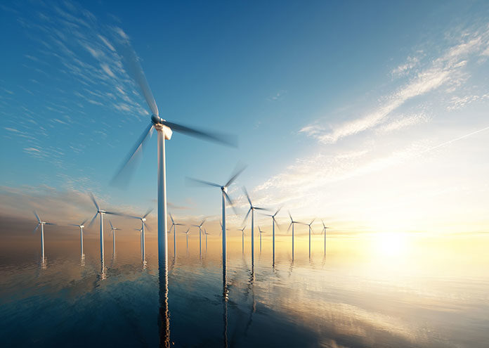 Offshore wind park in Germany