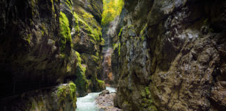 Gorge or Partnachklamm, near the town of Garmisch-Partenkirchen