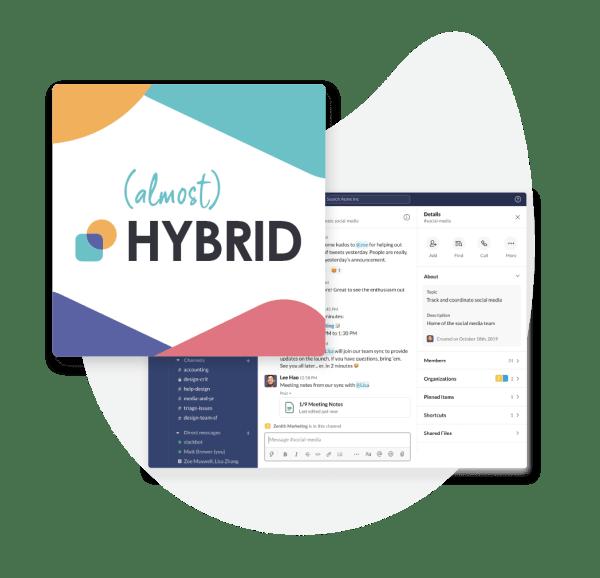 (Almost) HYBRID Slack Community - hybrid event takeaways 2021