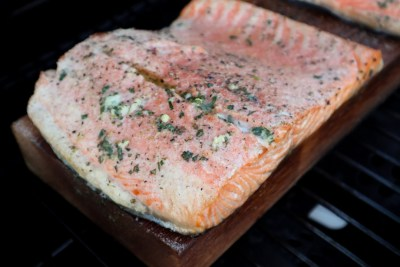 Cedar Plank BBQ Salmon from Welcome2OurTable.com