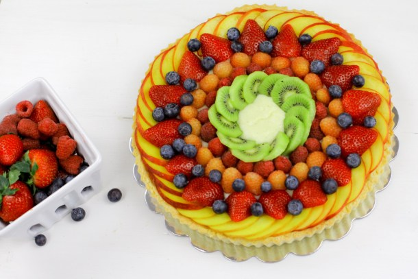 Summer Fruit Tart from Welcome2OurTable.com