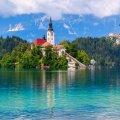 Церковь на острове Блед Словения
