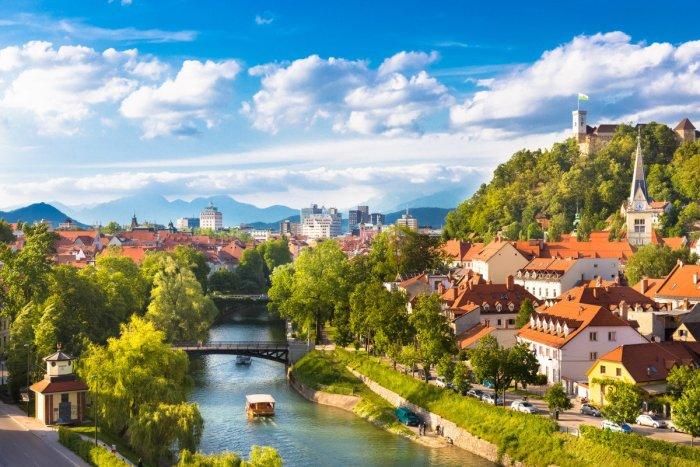 Вид на реку Любляница