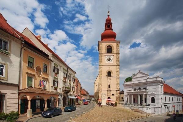 Улицы города Птуй Словения