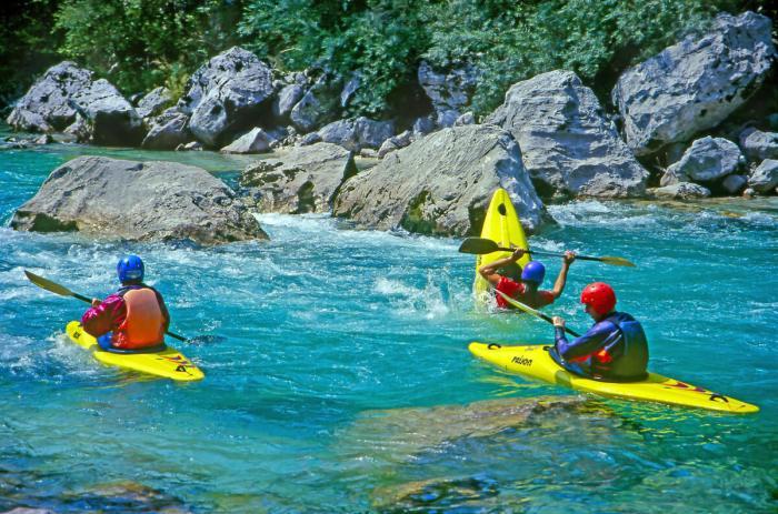 Горы в Словении - Каякинг на реке Соча