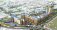 Aerial view of the proposed development, La Central