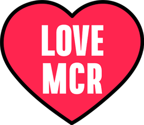 Love MCR heart logo