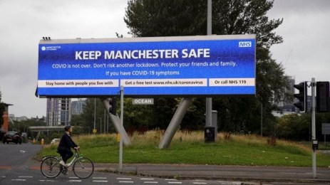 'Keep Manchester Safe' billboards can be seen all across the city