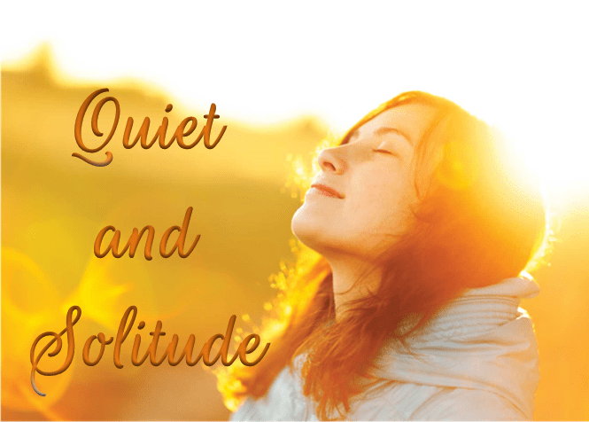 Woman in sunlight - Quiet and Solitude