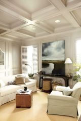 coffered ceilings white
