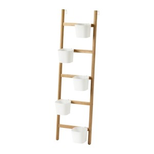 IKEA Satsumas ladder plant stand. There are spots for 5 plants.