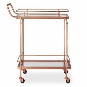 Target bar cart in rose gold.