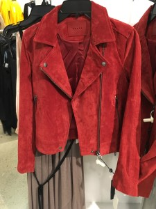 BlankNYC red suede moto jacket, part of the Nordstrom Anniversary Sale