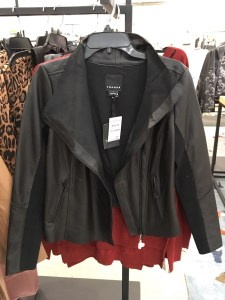 Trouve raw edge leather jacket, part of the Nordstrom Anniversary Sale