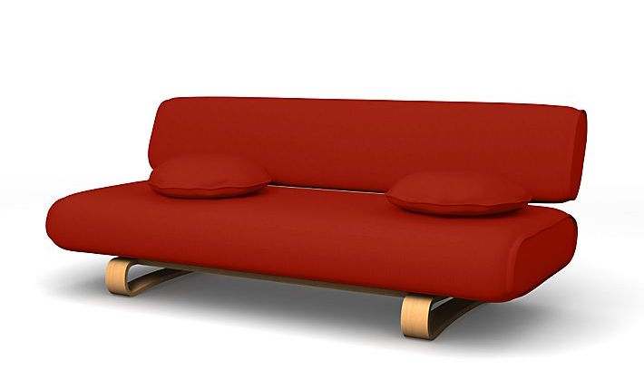 Bemz red slipcover on IKEA Allerum couch