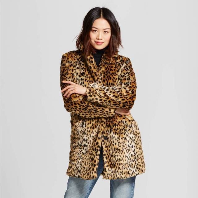 b3a50094740 Faux Fur Leopard Print Coats from Target - Welcome Objects